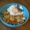 Frozen Sojajoghurt mit Apfel-Crumble